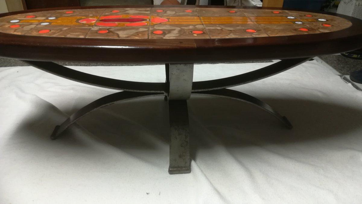 Table Basse  En Ceramique «raynaud» – Annees 60