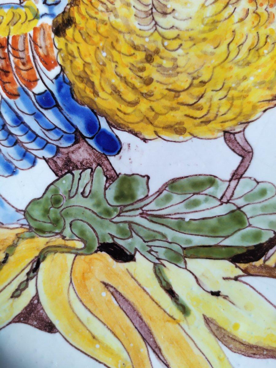 Quimper Porquier Beau – Assiette Botanique - 19ème-photo-1