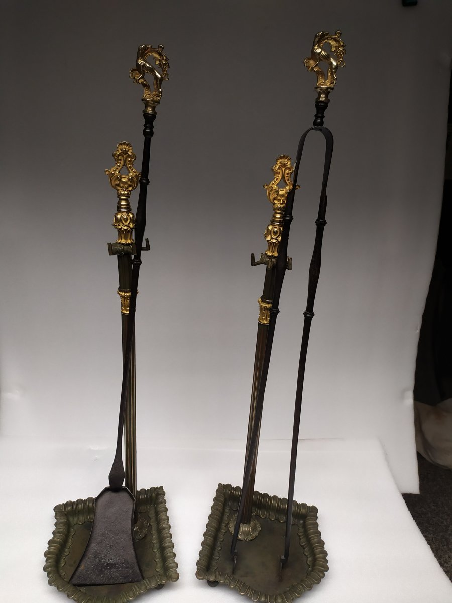 Necessaire De Cheminee En Bronze – XIXème.