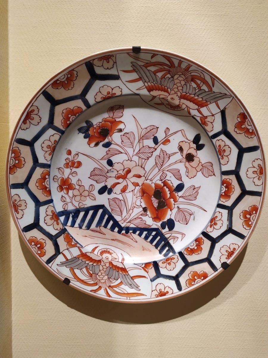 Plat En Porcelaine -decor Imari – Paris Samson XXème.