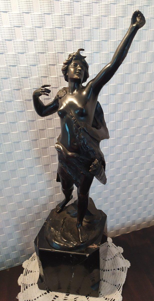 Bronze «diane Chasseresse» - C. Holand XXème.