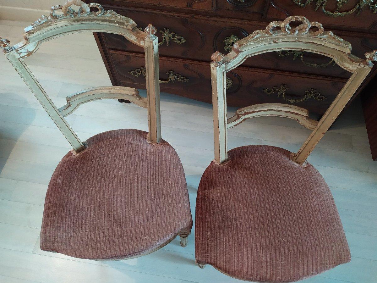 Paire De Chaises De Style Louis XVI.-photo-2
