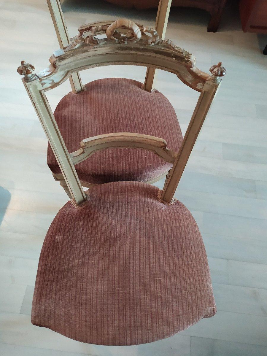 Paire De Chaises De Style Louis XVI.-photo-3