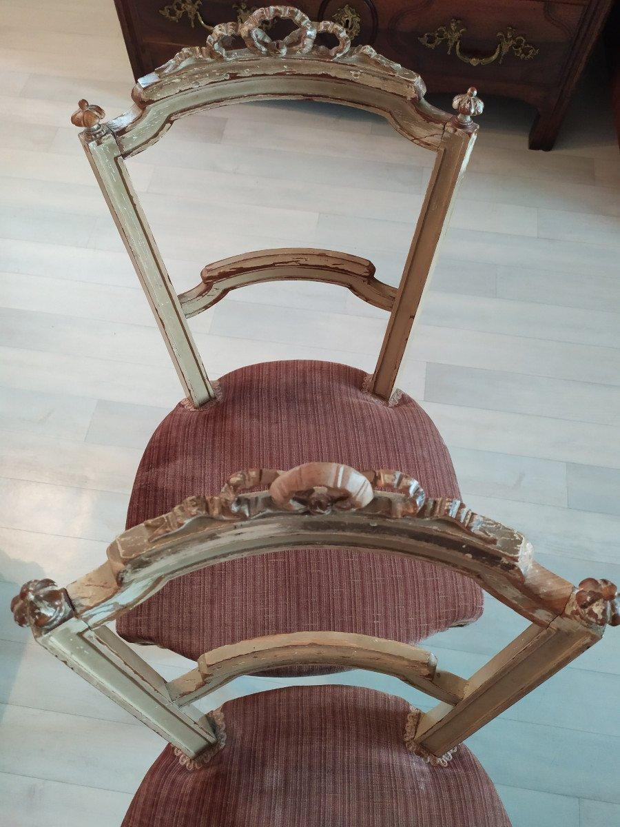 Paire De Chaises De Style Louis XVI.-photo-4