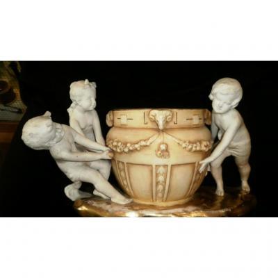 Centre De Table -porcelaine - XIXème - Autriche