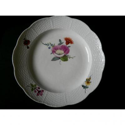 Assiette Porcelaine Meissen – XVIIIème