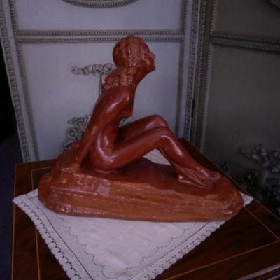 Chiparus – Terre Cuite – Femme Nue Art Déco