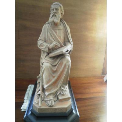 Sculpture Terre Cuite - Santus Paulus