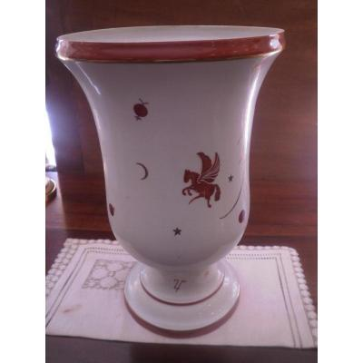 Vase Art Deco - Manufacture De Couleuvre- XXeme siecle