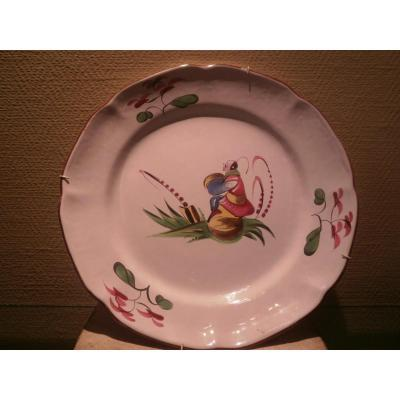 Chinese Plate In Faience Of The East - 18th