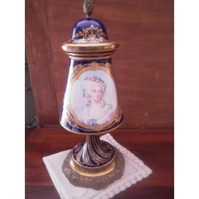 Sevres Porcelain - Covered Vase