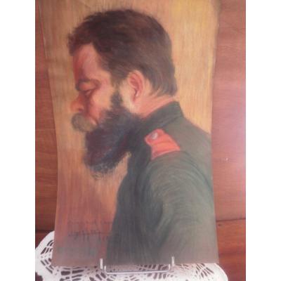 Pastel De Soldat Serbe – 1918 – Edmond Delphaut.