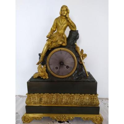 Pendule Restauration Bronze A Double Patine