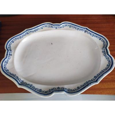 Oval Dish - Moustiers - XVIIIth