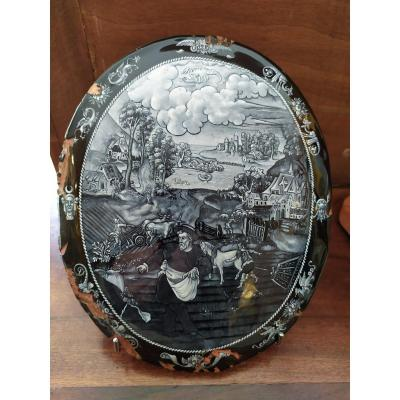 Limoges - Email Plate - XIXth Century