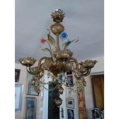 Venice Chandelier With 6 Branches - XXth