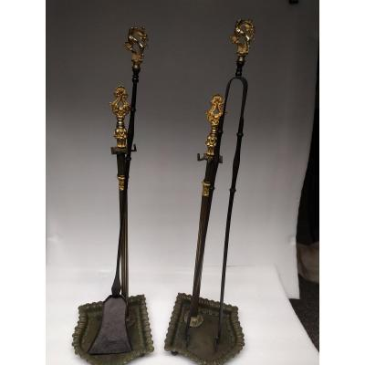 Bronze Chimney Kit - XIXth.