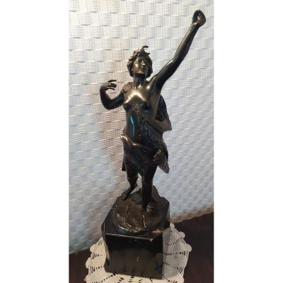 """Bronze """"diane Chasseresse"""" - C. Holand XXth."""