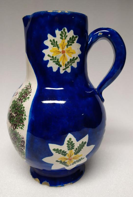 Brussels Pitcher - Blue Faience - XIXth.-photo-2