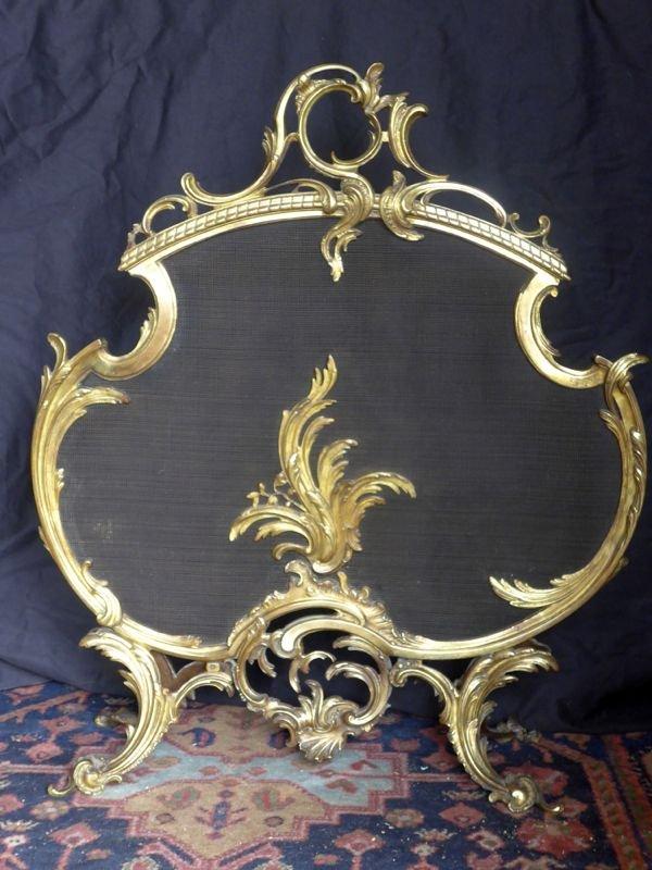 Pare Etincelles Style Louis XV  d' Epoque Fin XIXe-