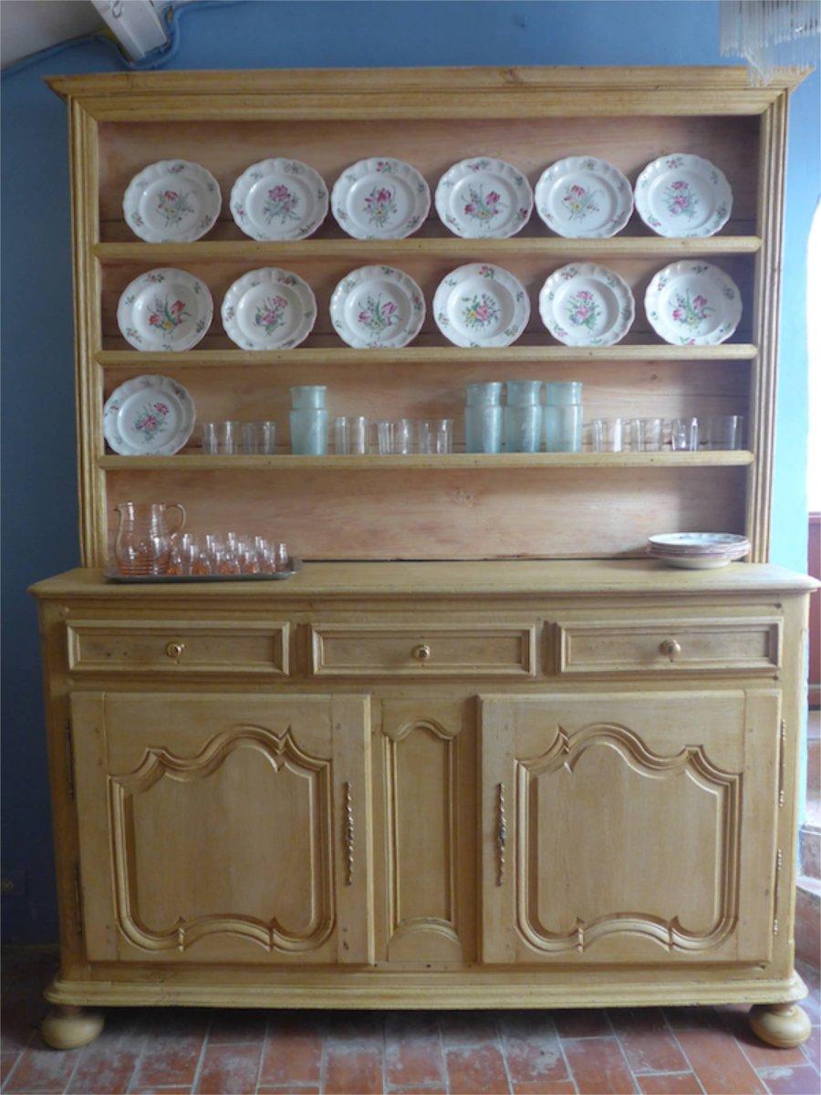 19th Century Dresser  In Bleached Oak