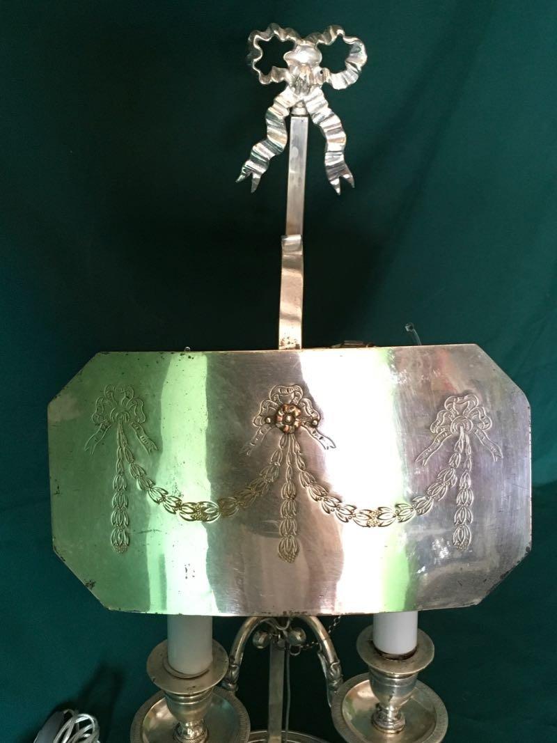 Lampe Écran En Métal Argenté