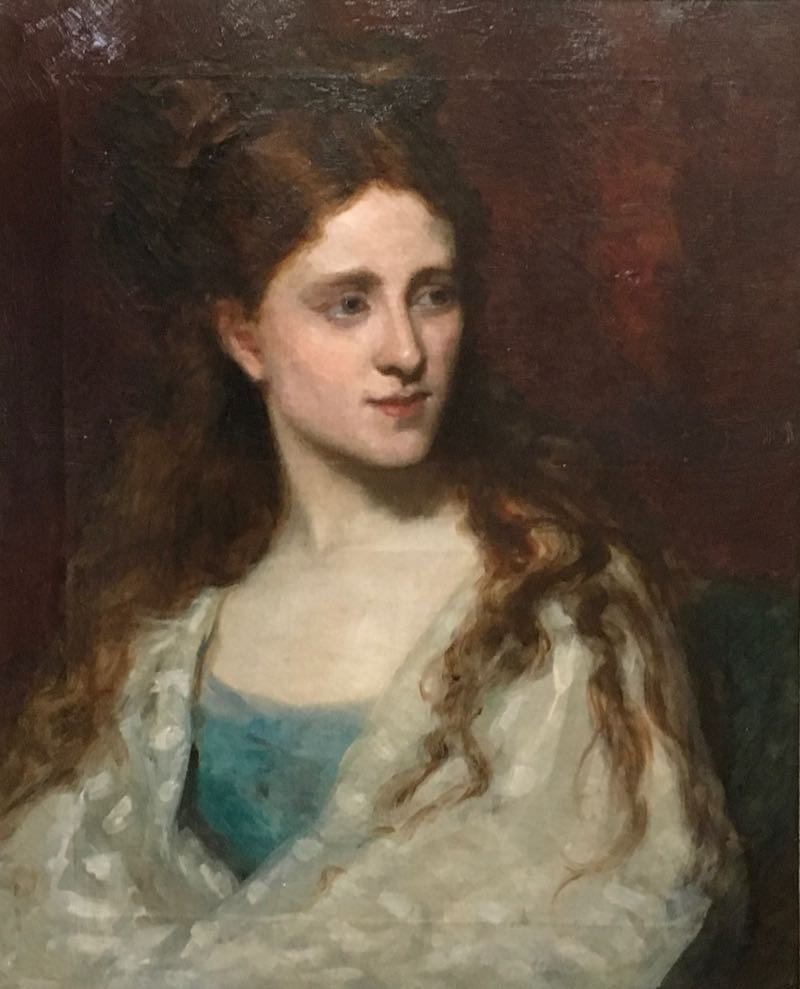 Portrait Of A Woman Attributed To José Cruz- Herrera