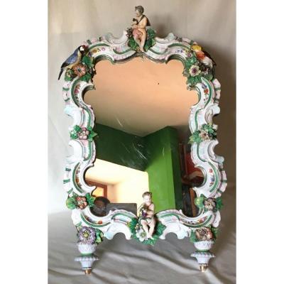 Miroir En Porcelaine Capodimonte