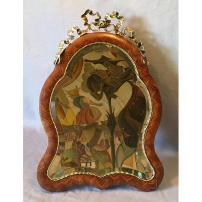 Miroir De Voyage Marqueté Napoleon III