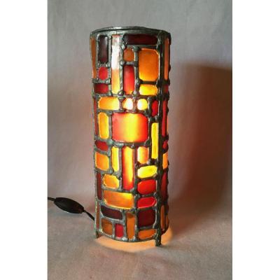 Lampe Vitrail Merot Années 60