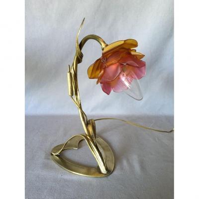 Lampe Coeur Art Nouveau Au Roseau