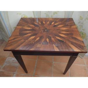 Table à Plateau Marqueté XIXe