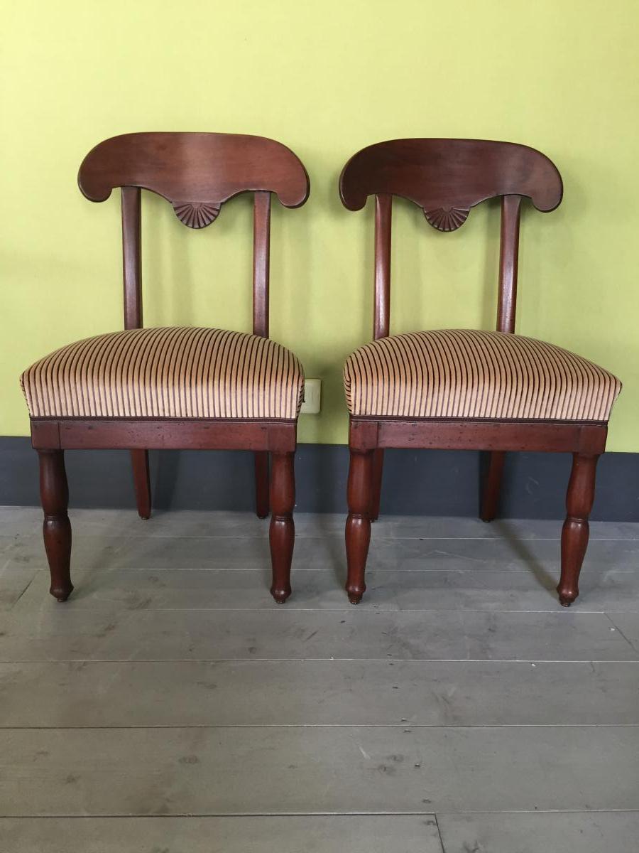 2 Empire Chairs In Mahogany