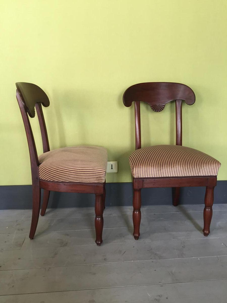 2 chaises empire en acajou chaises tabourets for Chaise 19eme siecle