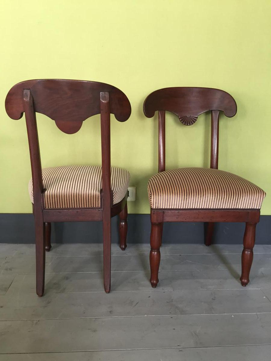 2 Chaises Empire En Acajou -photo-4