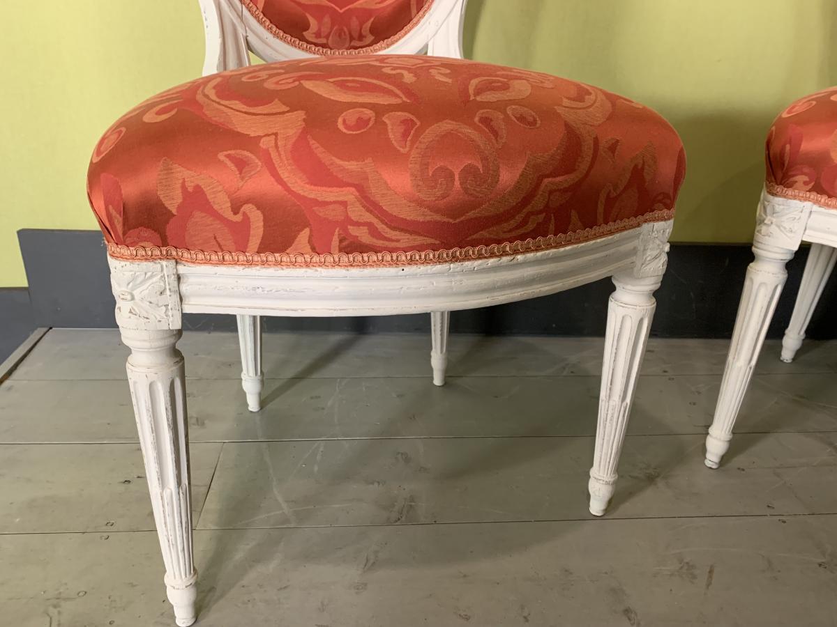 Paire De Chaises Louis XVI -photo-4