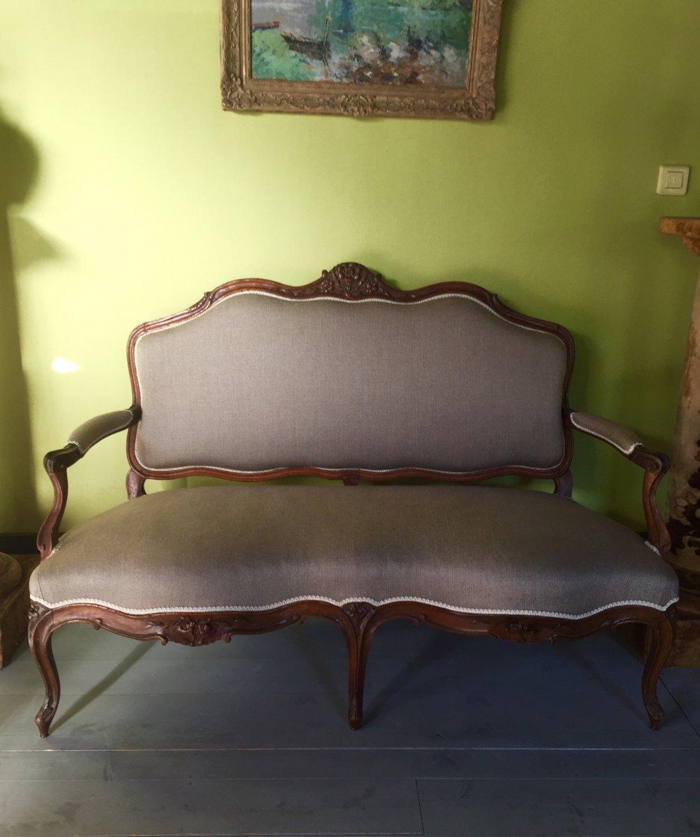 Canapé D'époque Louis XV -photo-2