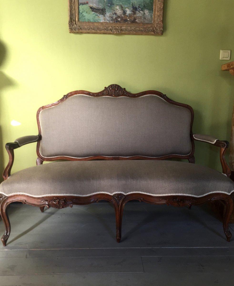 Canapé D'époque Louis XV -photo-3