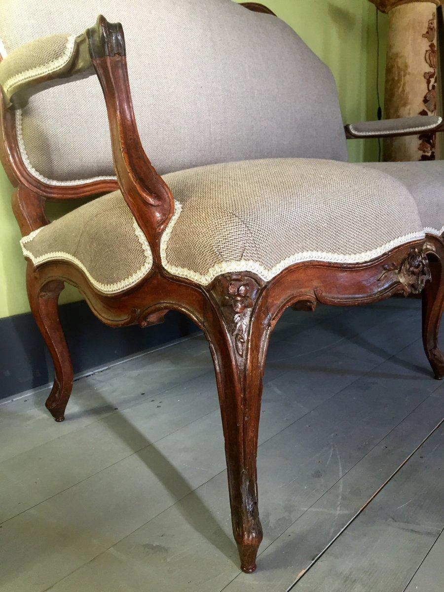 Canapé D'époque Louis XV -photo-4
