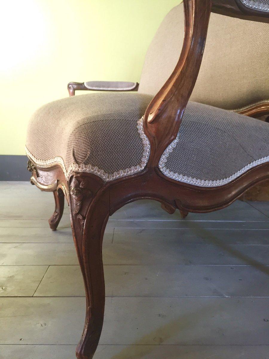 Canapé D'époque Louis XV -photo-5