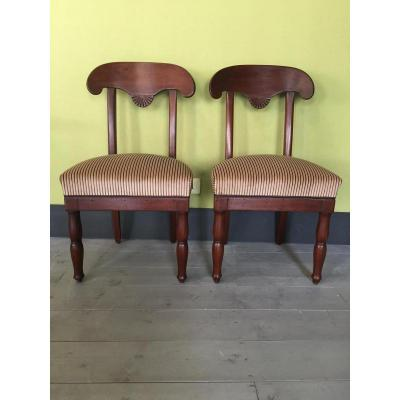 2 Empire Chairs In Mahogany
