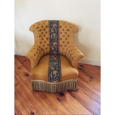 Napoleon III Upholstered Armchair