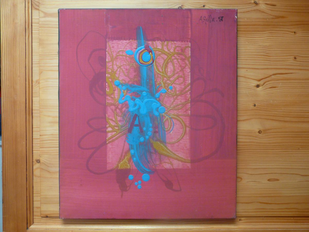 Tableau Abstrait Augustin Francois Archiguille