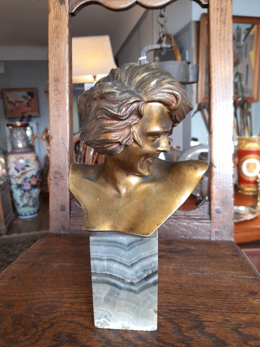 Bronze Art Déco Signé De Lannoy