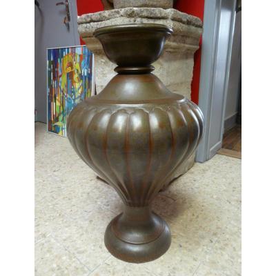 Vase En Dinanderie Polychrome Inde 19éme