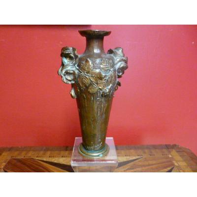 Bronze Vase Art Nouveau Albert Marionnet