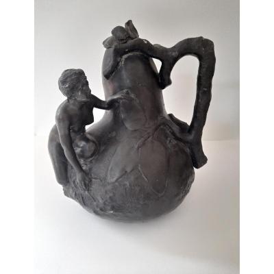Vase  Art Nouveau De Jean Garnier