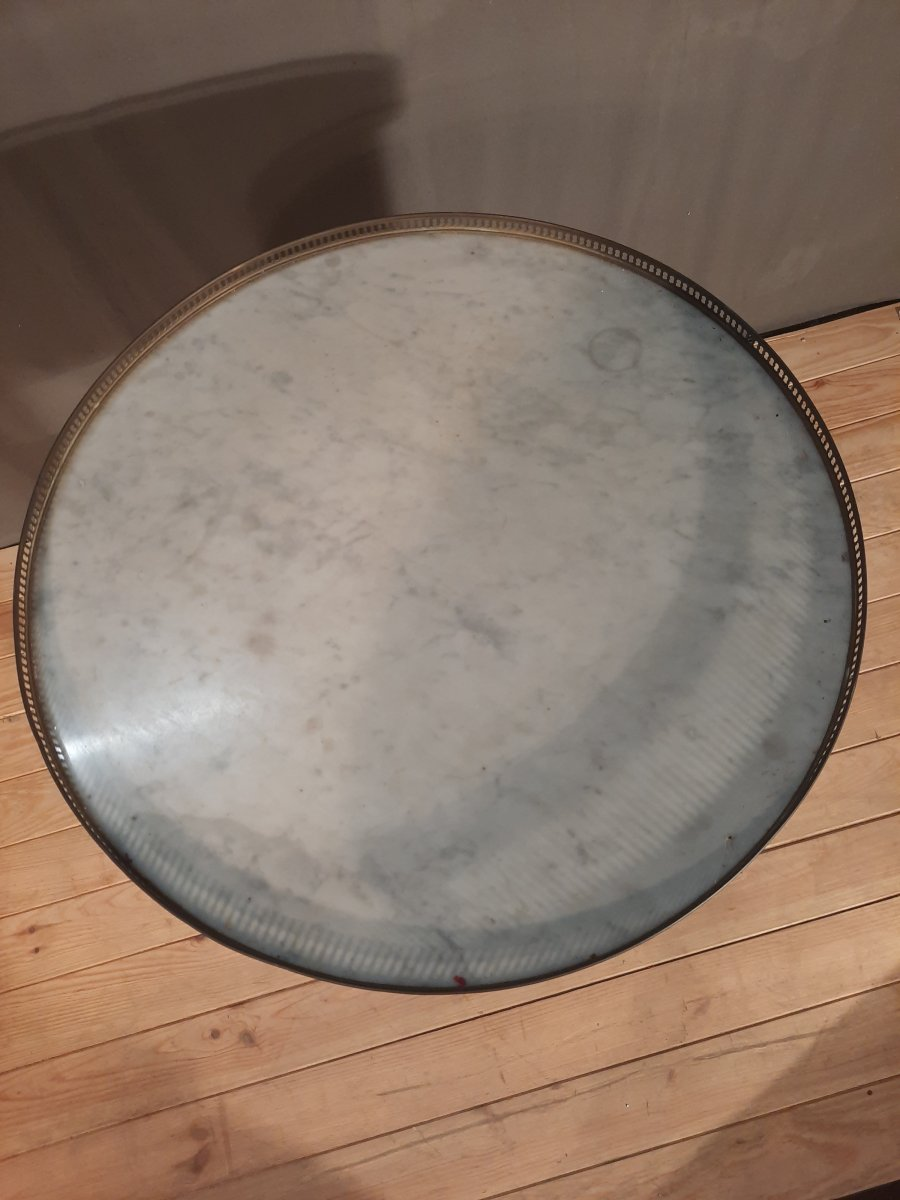 Table bouillotte de style Louis XVI -photo-1