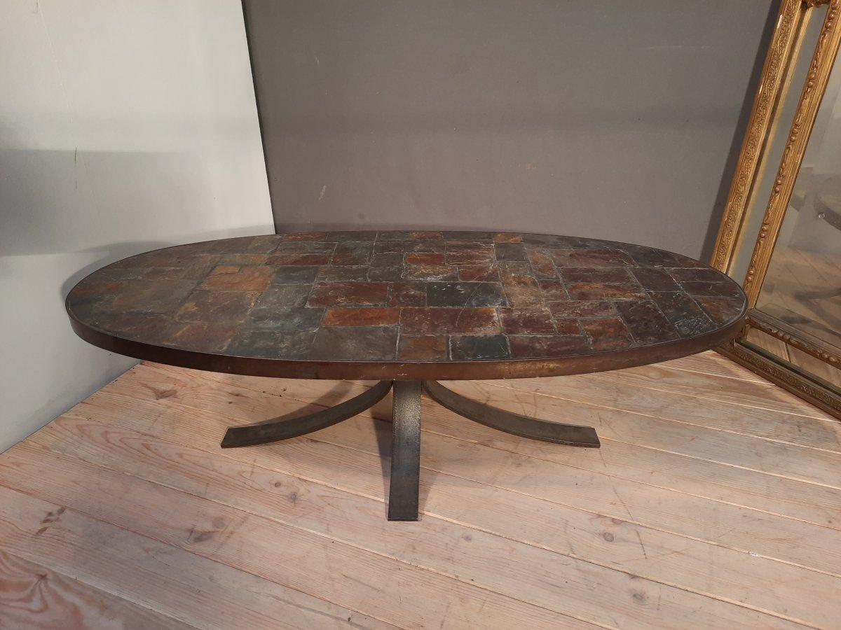 Brushed Metal Coffee Table