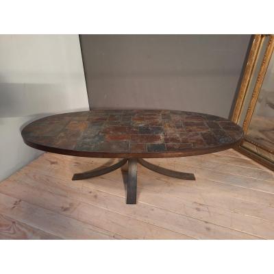 Table Basse En Métal Brossé